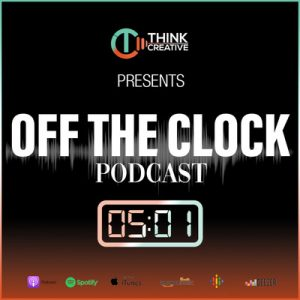 TC: Off the Clock podcast logo available on Spotify